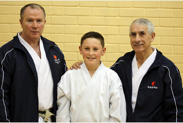 Josh Nidan Karate Black Belt Grading with Sensei Andy Sherry and Frank Brennan KUGB